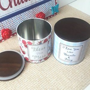 The Pioneer Woman Accents - The Pioneer Woman Glass/Tin  Storage Decor Bundle